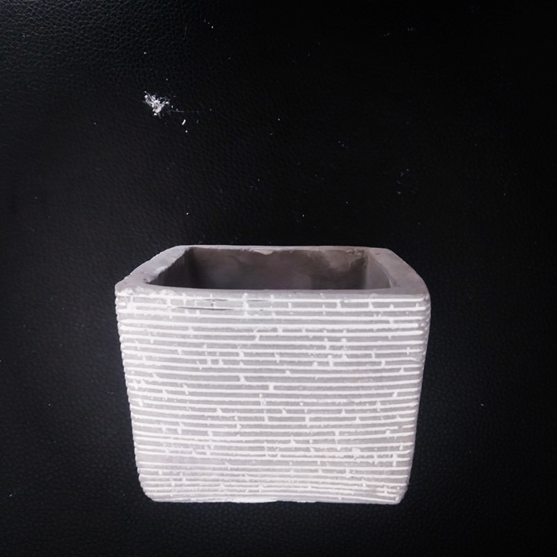 Small Square Concrete Mould for Handmade Flower Pot Making DIY Cement Planter Silicone Mold in Clay Molds from Home Garden