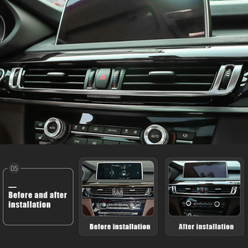 For BMW NEW X5 2014-18 X6 2015-18 Console Audio Loudspeaker Frame Decorative Stainless Steel Car Accessories Cover Trim Strip image