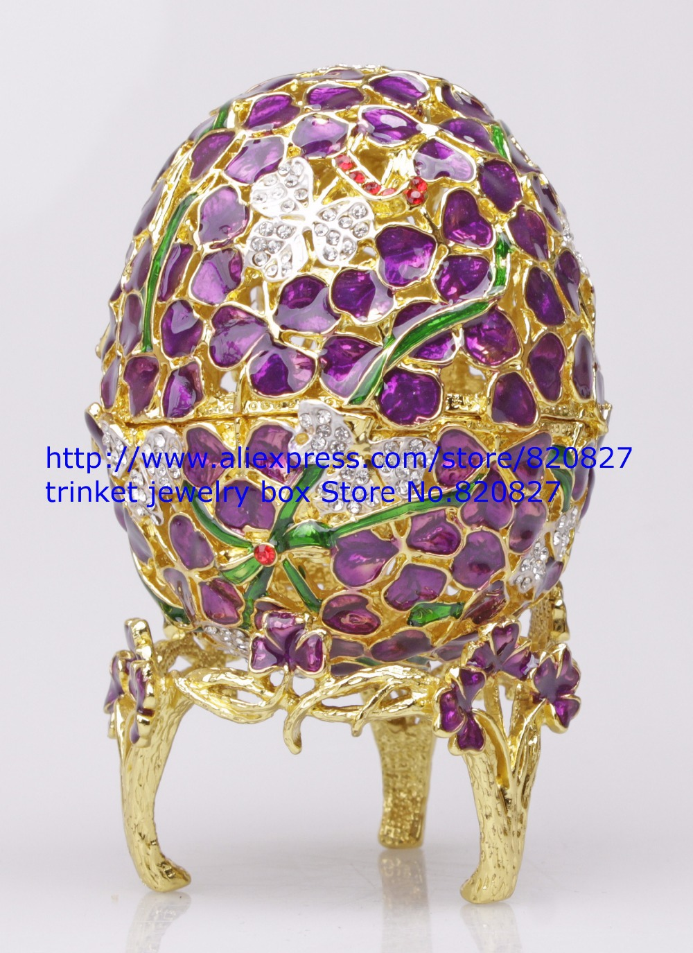 Faberge Egg Box Platinum Colored Czech Crystals, Silver with Stand Figurine Trinket Pill Jewelry Box Floral Flowers Trinket Egg faberge egg crystals jewellery jewelry trinket ring gift box egg trinket vintage decorations hinged footed egg shape trinket box