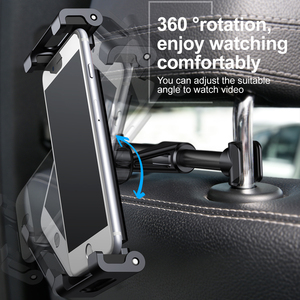 Image 2 - Baseus Car Back Seat Headrest Holder for 4.7 12.9inch Pad Car Phone Holder Backseat Mount for Pad Tablet PC Auto Headrest Holder
