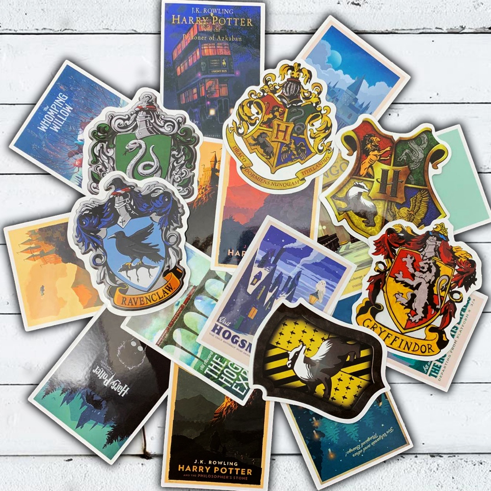 25Pcs Harry Potter Stickers Hogwarts Express Diagon Alley Hogsmeade Waterproof Movie Sticker For Luggage Fridge Kids Toy Decals