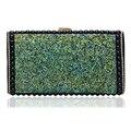 Verde Color de Mensajero Bolsas de Hombro de la Cadena de Metal Con Cuentas Bolsos de Noche Embragues Del Día de La Boda Para la Señora de Bolso