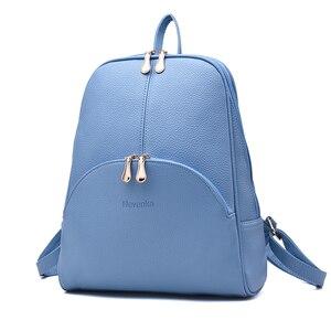 Women Backpack Leather Bag Fem