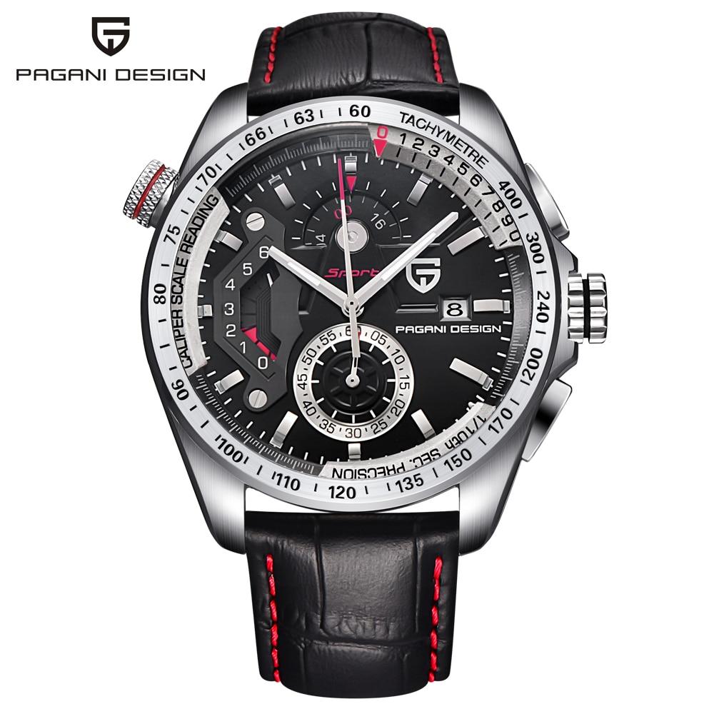 Top Luxury Brand PAGANI DESIGN Chronograph Sport Quartz Watch Men Reloj Hombre Full Stainless Steel Male Clock Relogio Masculino цена