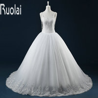 New Arrival Gorgeous Heavy Beading Sweetheart Ball Gown Tulle Lace Up Back Real Sample Wedding Dresses 2016 Custom Made