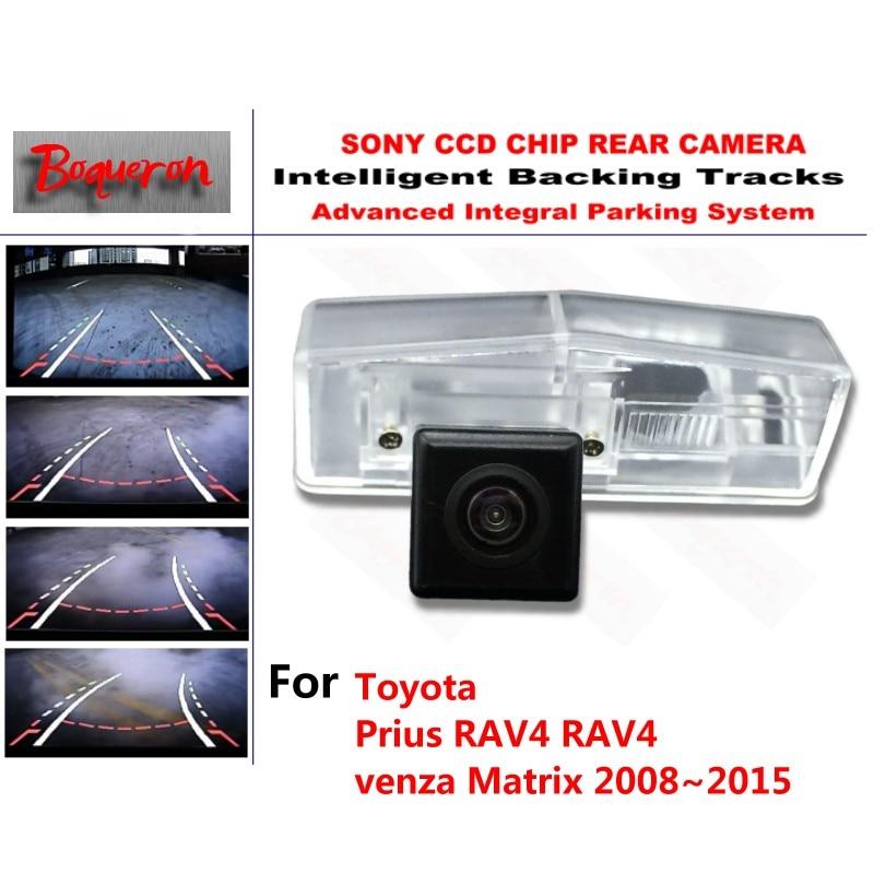 Pour Toyota Prius RAV4 RAV4 venza Matrix 08 ~ 15 CCD caméra de stationnement de secours de voiture voies intelligentes guidage dynamique caméra de recul