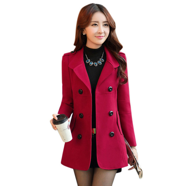 Multicolor Women Blazers And Jackets 2016 Casual Slim Women Double-Breasted Button Blazers Wool Coat Plus Size Blaser Femenino