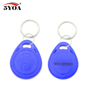 Image 2 - 100pcs Blue RFID 125 khz EM4100 Key Tag Keyfobs Ring Chip Keytab TK4100 Tags 125khz Read Only