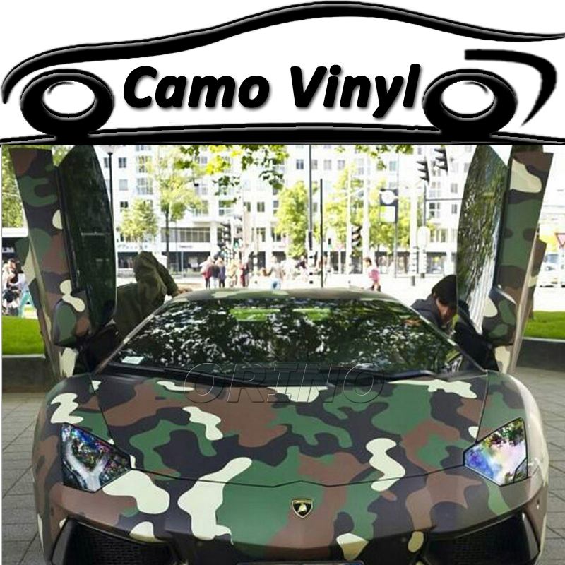 Car styling military green camouflage vinyl wrapping army green camo film sticker auto vehicle body covers wraps air bubble free in car stickers from