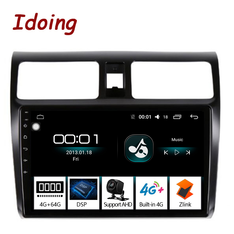Idoing 10 2 4G 64G 2 5D IPS Screen Octa Core Car Android8 1 Radio Player