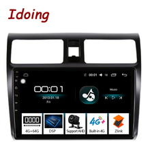 "Idoing 10.2 ""4G   64G 2.5D IPS Octa Core Android 8.1 เครื่องเล่นวิทยุสำหรับ Suzuki Swift 3 2008-2015 GPS NavigationGLONASS no 2 din"