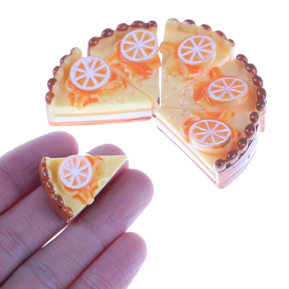 5x Dessert 3D Resin Cream Cakes Miniature food Dollhouse Accessories BB