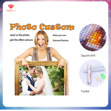 YIKELA 5D Diamond Painting Full Square Accessory Rhinestone Photo Custom Embroidery DIY Drill Pictures