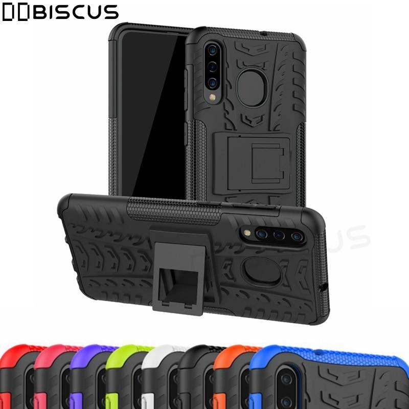For Samsung Galaxy M10 M20 M30 A10 A20 A30 A40 A70 A60 A20E Case Hard Plastic Soft Silicone Hybrid Armor Stand PC TPU Cover Capa