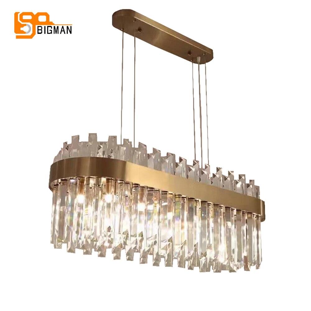 Nuovo di lusso lampadario di cristallo lampada moderna kroonluchter AC110V 220 V oro sala da pranzo soggiorno apparecchi di illuminazione