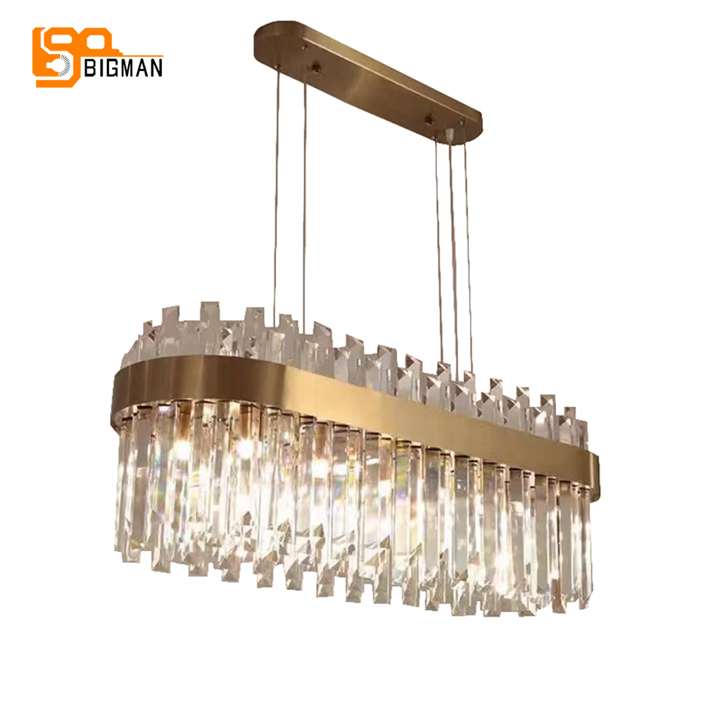 new luxury chandelier crystal lamp modern kroonluchter AC110V 220V gold dinning room living room light fixtures