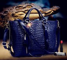 2017 European&American style women alligator satchels handbag fashion business office lady single shoulder bag messenger bag