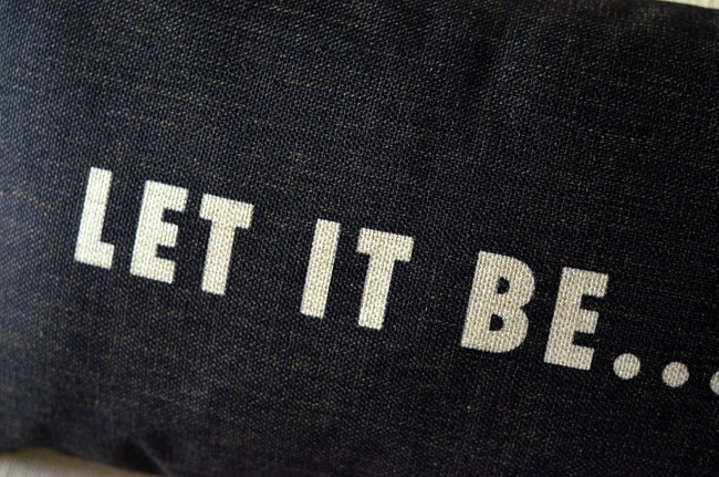Let it be pillow cushion covers sofa chair cushions shabby chic home decor No Inner