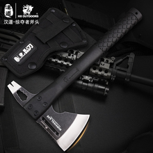 HX Axe Head Camping tool nylon fiber handle 59HRC Ruscue Survival Hunting Outdoor Axe EDC tool CS GO Multifunctional Dropship