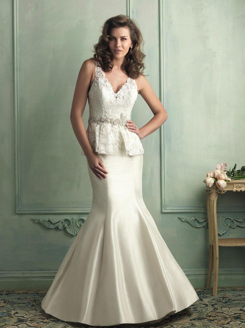 Free shipping WE 2336 Bridal mermaid dress pattern,sew on crystal ...