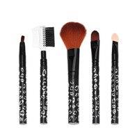 2017 New Makeup Brushes 5Pcs Makeup Eyeshadow Leopard Brushes Lipstick Cosmetic Brushes Set Tool
