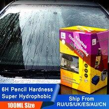 100ml Anti yağmur sıvı araba cam su sineksavar sprey süper hidrofobik seramik Nano kaplama su geçirmez araç ön camı temizleme
