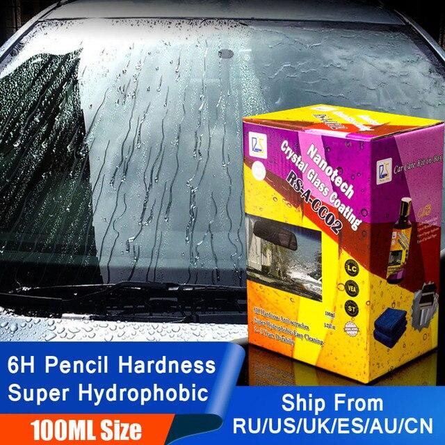 100ml płyn przeciwdeszczowy szkło samochodowe odstraszacz komarów w sprayu Super hydrofobowy powłoka ceramiczna Nano wodoodporne czyszczenie szyb samochodowych
