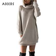 Winter casual turtleneck knitted winter sweater women Loose long tricot pullover female knit jumper Autumn 2017 pull femme