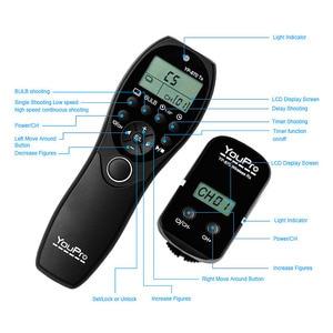 Image 5 - YouPro YP 870 II L1 2.4G 32 قنوات اللاسلكية التحكم عن بعد LCD الموقت مصراع الإفراج الارسال استقبال للكاميرا