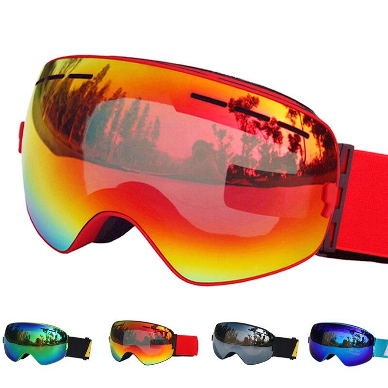 Óculos de esqui Duplo Camadas UV400 Anti-nevoeiro óculos de Esqui Óculos de Esqui Na Neve Snowboard Motocross Óculos De Esqui Máscaras ou Óculos