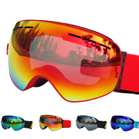 Spherical Ski Glasses Double Lens UV 400 Anti Fog Ski Goggles Snow Skiing Snowboard Skateboard Motocross