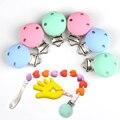 10 stks DIY Ronde Kleur Silicone Baby Fopspeen Chain Clips Fopspeen Verpleging Baby Accessoires Houder Clips