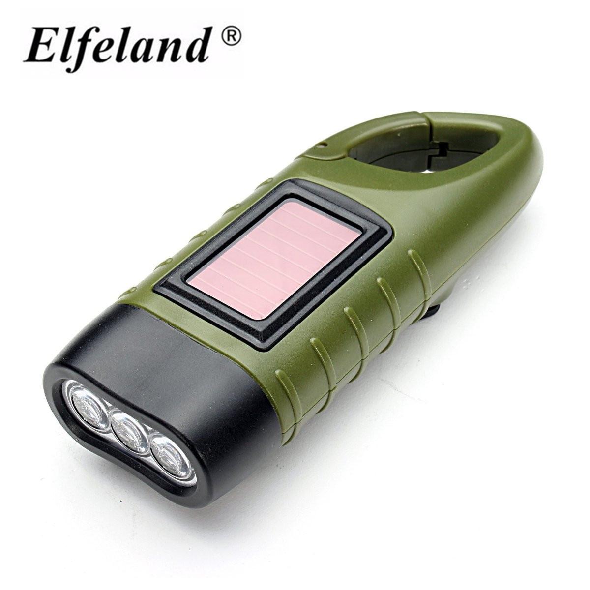 Mini Emergency Hand crank Solar Flashlight Rechargeable ...