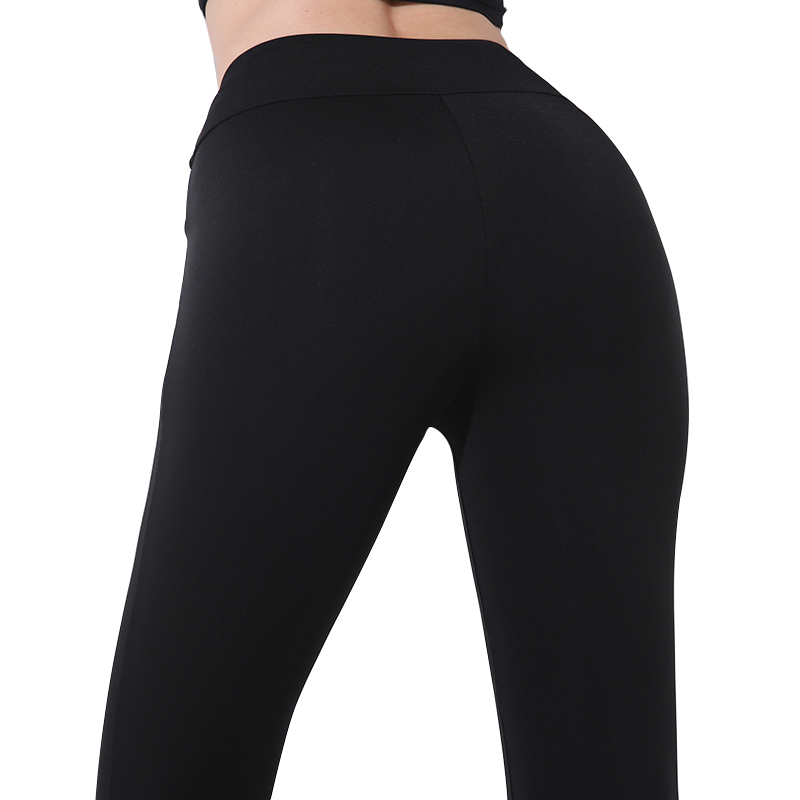 CHRLEISURE Sexy High waist Fitness leggings woman Solid Slim lacing workout pants Autumn Winter black Breathable leggings(China)