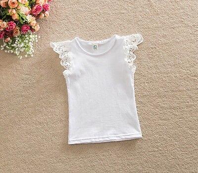 e171c8d24fd26 Infantile bébé fille vêtements 2017 enfant en bas âge coton dentelle courte  t-shirts hauts