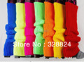 Plain Knitted Leg Warmers Stocks Finger less Long Gloves Neon Color