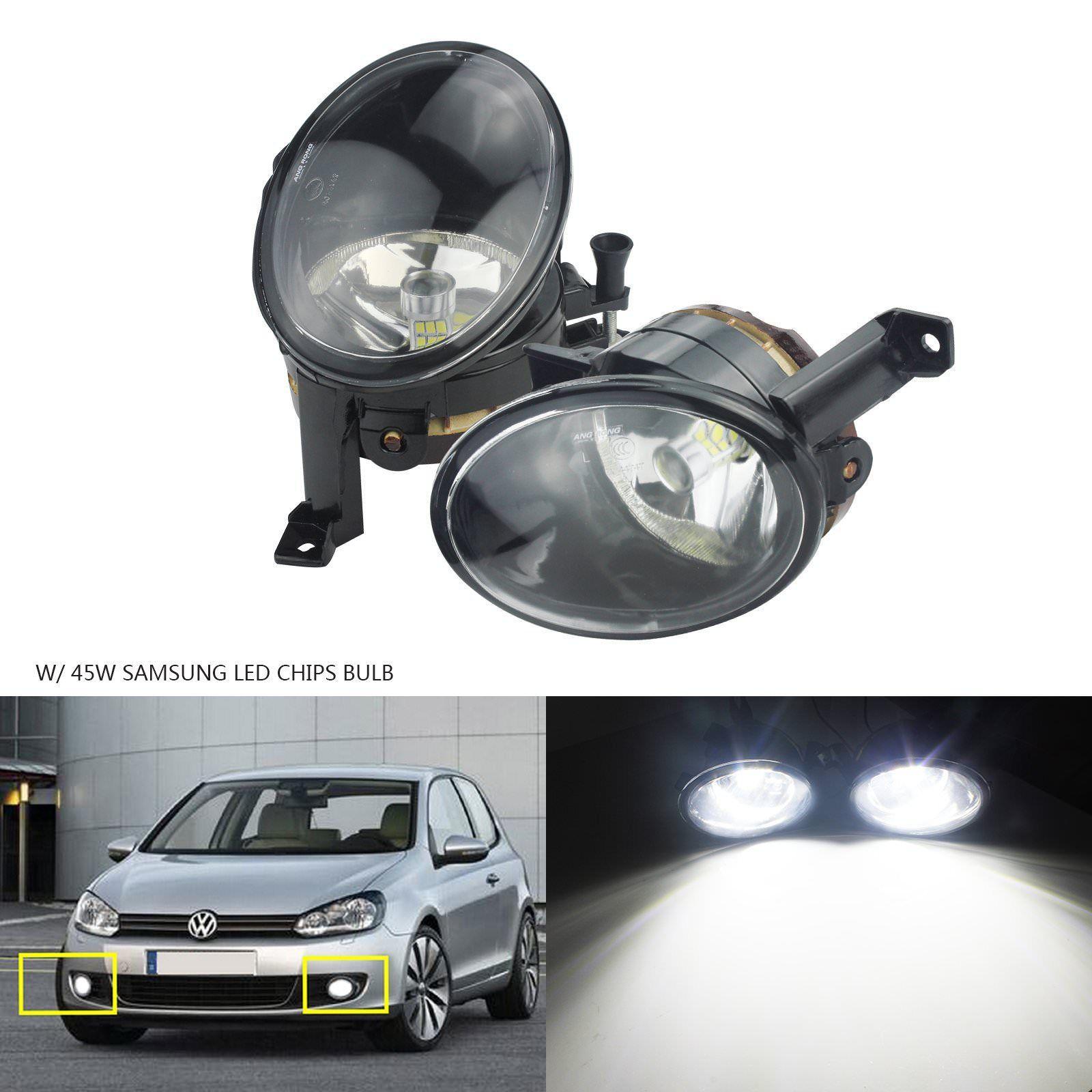 ANGRONG 2 x lampes antibrouillard avant haute puissance 45 W 2000LM SAMSUNG ampoule LED L & R pour VW JETTA MK6 Golf MK6 Plus Jetta Touran