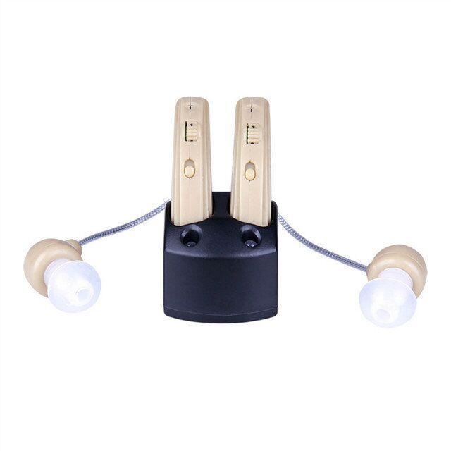 2016 Novos mini aparelho auditivo FEIE, aparelho auditivo atrás da orelha, BTE aparelho auditivo recarregável S-109S frete grátis