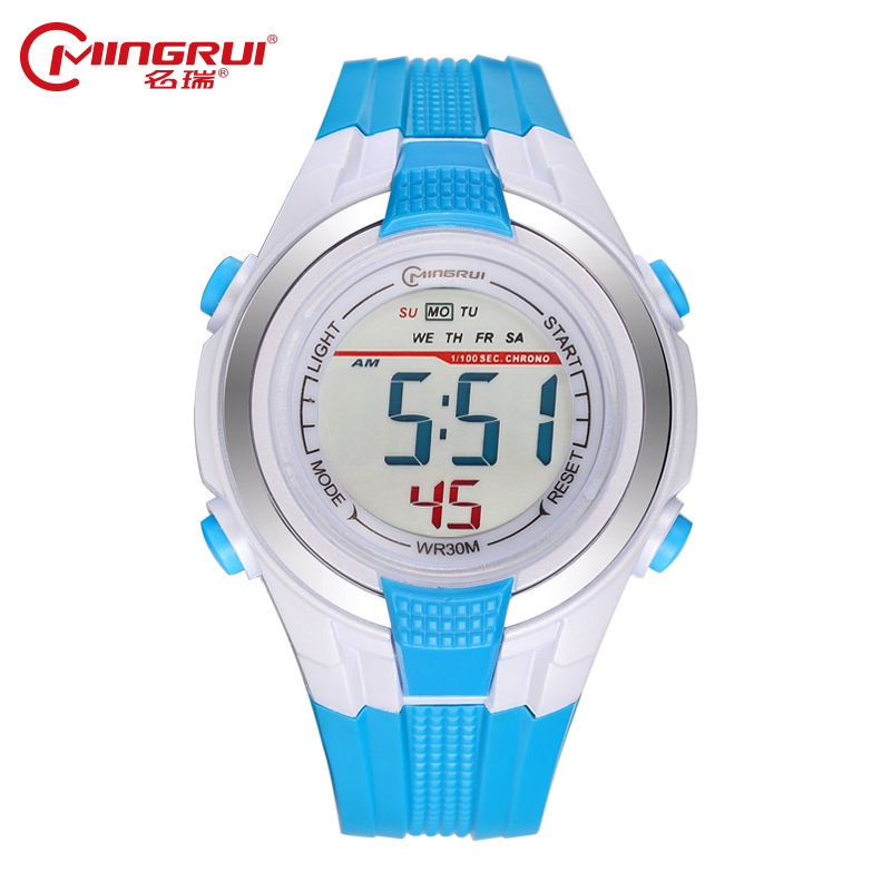 MINGRUI Children's Watches Waterproof Silicone Digital Watch Kids Watches Kids Watch Alarm Clock Saat Montre Enfant Relogio