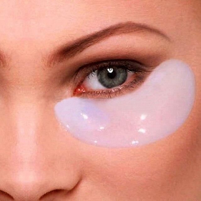 5 pares = 10 piezas de cristal colágeno máscara de ojo oscuro círculo removedor de Anti-arrugas de proteína de suero de leche parches bajo los ojos para máscara facial