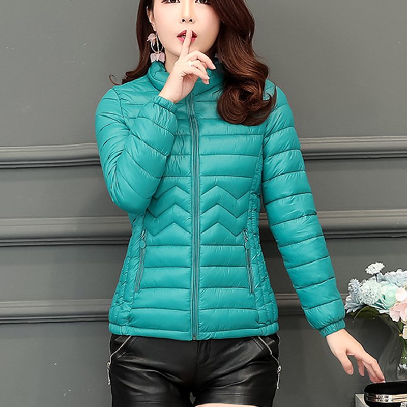 Women Winter Padded Warm Coat Long Sleeve   Parka   Zipper Coats Jacket Long Female Overcoat Slim Solid Jackets kz276