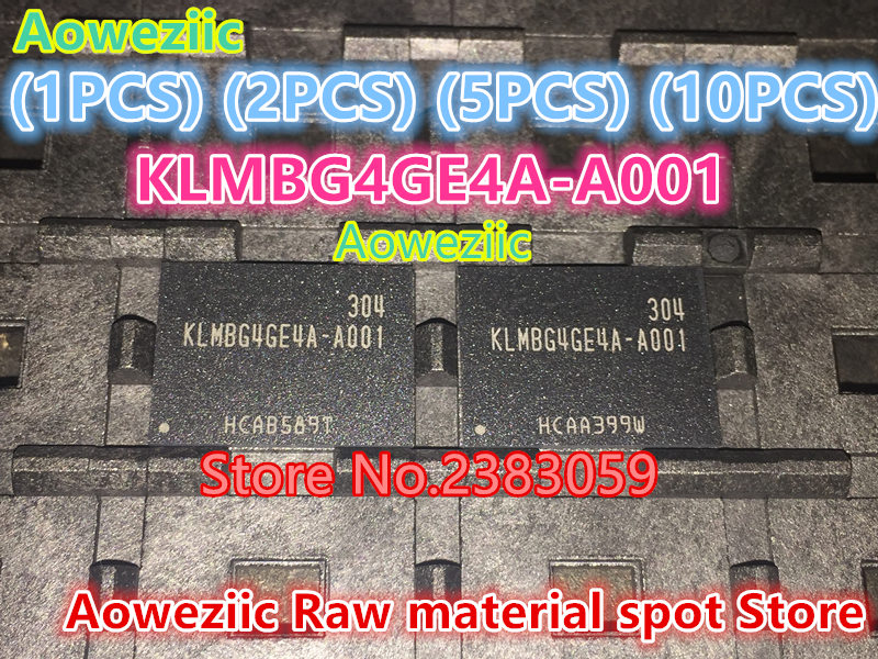 Aoweziic  (1PCS) (2PCS) (5PCS) (10PCS) 100% New original   KLMBG4GE4A-A001 BGA    memory chip KLMBG4GE4A A001 aoweziic 5pcs 100