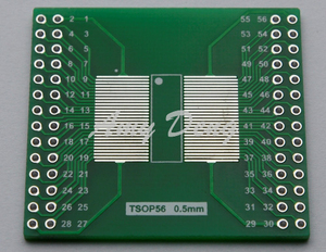 Image 2 - 20 adet/grup TSOP56 TSOP48 dönüş DIP56 adaptör plakası AM29 serisi çip 0.5mm 0.65