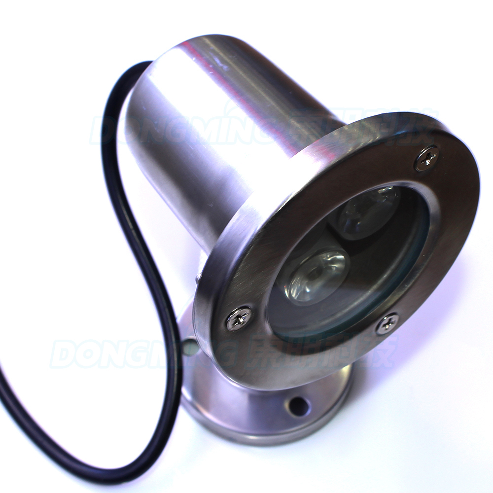 Convex lens swimming pool led underwater lights ip68 waterproof AC85-265v3W led underwater lights silver body white/warm white