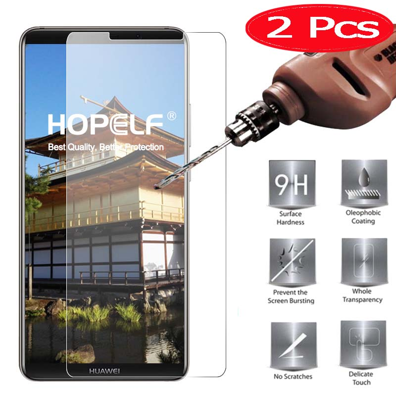 2 Pieces HOPELF Screen Protector for Huawei Mate 10 Pro Tempered ...