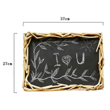 VILEAD 10.6x14.5 Inch Wooden Blackboard Wall Decoration Creative Wood Figurines Home Decor for Christmas Gifts