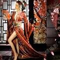 Mei Qing Tian Xia Sexy Geisha Kimono Japonés para el Rendimiento o la Temática Fotografía Traje Hanfu de Las Mujeres