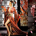 Mei Qing Tian Xia Sexy Japanese Geisha Kimono for Performance or Thematic Photography Costume Hanfu for Women