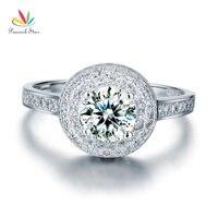 1 CARAT ROUND CUT CZ SIMULATED DIAMOND STERLING 925 SILVER WEDDING RING CFR8035