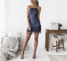 Sleeveless V-Neck Backless Dress